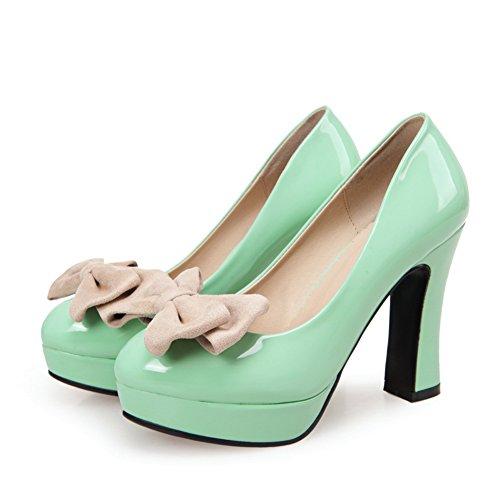 Adee Femme romantique polyuréthane Pompes Chaussures Vert - vert