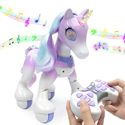 XIAMUSUMMER Einhorn Roboter drahtlose Fernbedienung Kinder intelligente Spielzeug sprechen Pferd Roboter elektronische Haustier Spielzeug Unicorn Geburtstag Weihnachten Geschenk