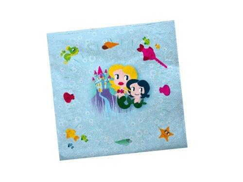 Preisvergleich Produktbild 20 Servietten * Meerjungfrau * für Kindergeburtstag von DH-Konzept // MEERJSERV017 // Kinder Geburtstag Party Feier Mädchen Set Mermaid Nixe Napkins