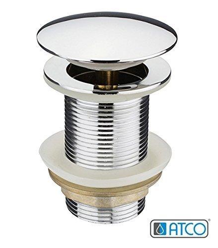 PU16 ohne Überlauf Pop-Up Ventil Ablauf Ablaufgarnitur Excenter Exzenter Abfluss