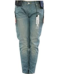 BenchDamen jean pour homme-couleur :  bleu-jaune bleu