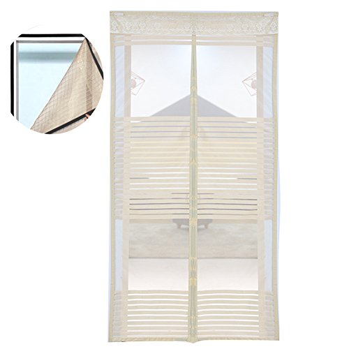 Liveinu zanzariera magnetica per porte finestre tenda zanzariera con magneti rete anti zanzare zanzariera strisce laccio adesivo fotogramma intero versione giallo 100x210cm