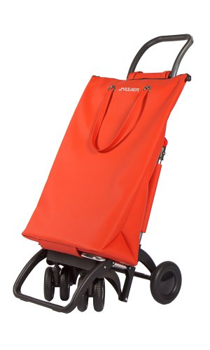 ROLSER Einkaufsroller LOGIC TOUR / SUPERBAG, SUP003, 39,5 x 32,5 x 105,5 cm, 50 Liter, 40 kg Tragkraft rojo
