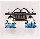 Mittelmeerspiegel-Frontleuchte-Toilette-LED-Spiegel-Lampe Lavabo-Toilettenlampe Badezimmer-Eitelkeitslicht-modernes Badezimmer-Wand-Licht-Spiegel-Front LED-Beleuchtung (Color : 2lamps-5W)