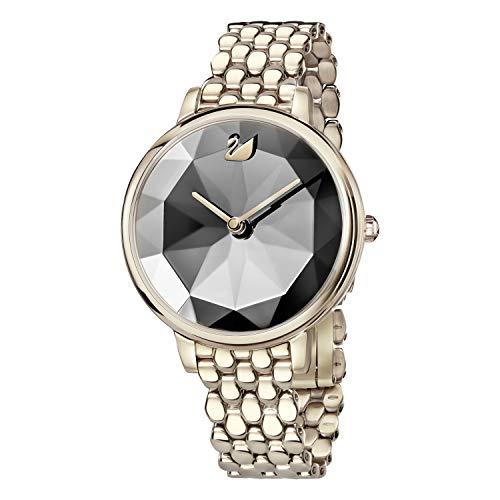 Swarovski Damen-Armbanduhr 35mm Armband Edelstahl Gold + Gehäuse Quarz 5416026