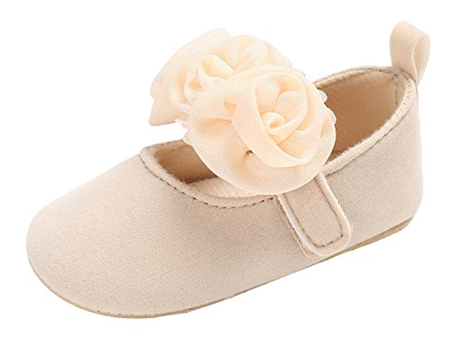 5c31ed592d088 Y-BOA Chaussure Princesse Mocassin Ballerine Baptême Mariage Fleur Premier  Pas Bébé Fille Anti-