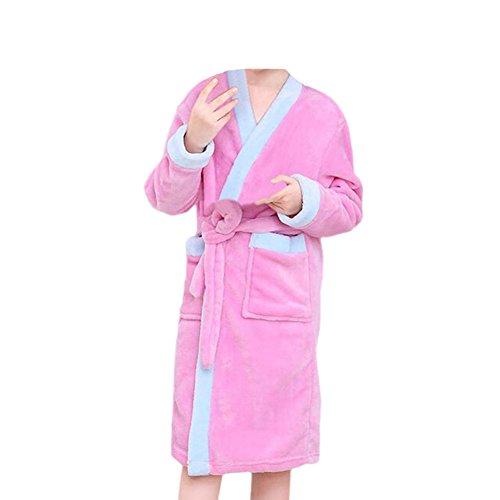 Zhuhaixmy Kinder Bademantels Strand Pool Schwimmen Handtuch Terry Koralle Mädchen Jungen Schlafanzüge Kleid Pyjama Kleider (Hose Terry Plüsch)