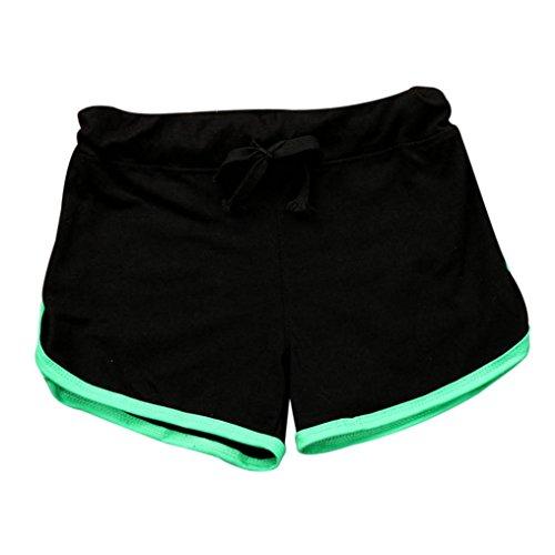 Sport Shorts Damen Fitness Workout Bund Dünne Yoga Elastische Hose (Damen-guess Jeans-größe 32)