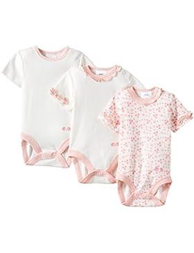 Twins Baby - Mädchen Kurzarm-Body im 3er Pack mit zartem Print