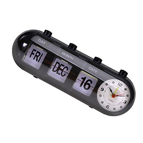 Creative-Idea Reloj Manual Flip Digital Día Fecha