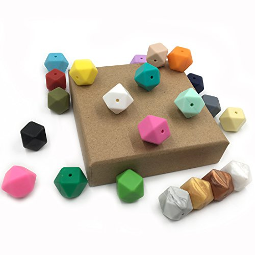 coskiss-100pcs-color-mezclado-067-17m-m-granos-geomtricos-del-silicn-del-hexgono-alimento-seguro-del