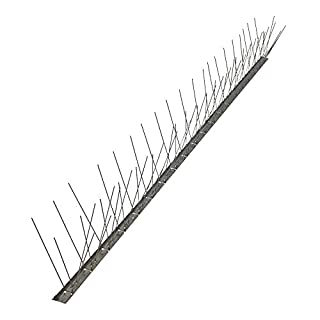 Bird Spikes for Poultry Anti Pigeons Stainless Steel AISI 304 Base Flexible Box 25 Metres …