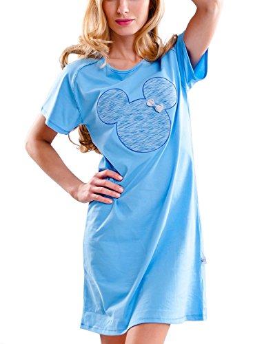 Dobranocka 5029 Moelleuse Chemise De Nuit - Fabriqué En UE bleu ciel