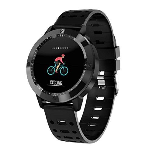 Preisvergleich Produktbild EARS BT4.0 Smart Watch Herzfrequenz Blutdruck Sauerstoff Sport Smartband (Schwarz)