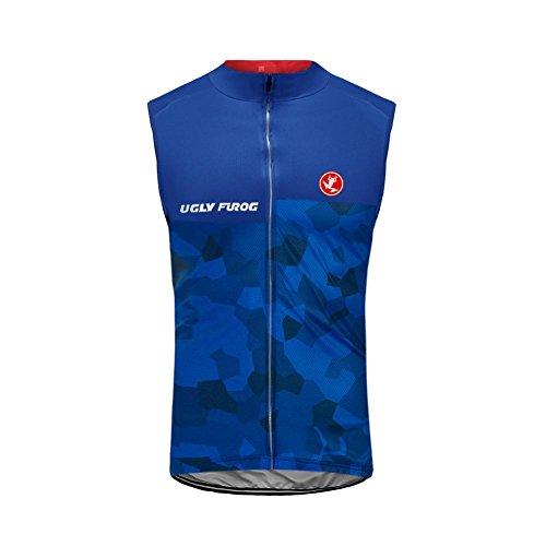 Uglyfrog 2018-2019 Atmungsaktiv Fahrradweste Herren Frühling Ärmelloses Männer die Jersey Triathlon Vest Fahrradbekleidung Winter Thermal Warm Rennrad Radweste Besondere Designs -