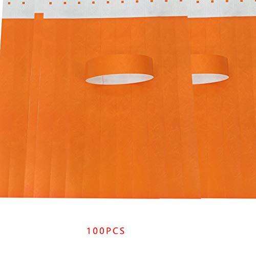 Nowear 100Pcs / Set wasserdichte Einweg Event Armbänder Non-Woven-Gewebe-Papier Armbänder Vergnügungspark Eintrittskarten (Papier-armbänder Ereignisse Für)