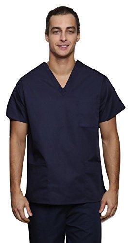 Lister Unisex Krankenhaus-Bekleidung / Arzt-Uniform, verschiedene Farben, Größen XS bis 3XL Gr. M, navy (Uniform-top Medical)