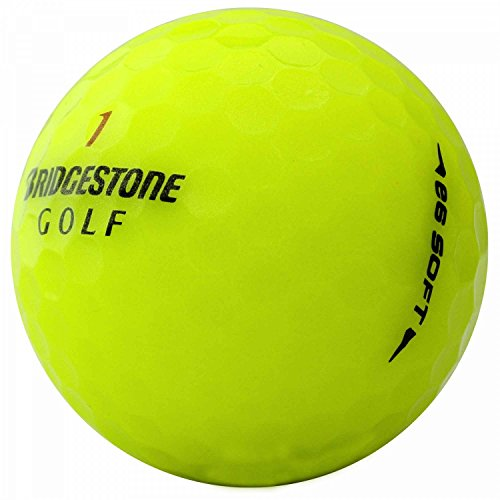 lbc-sports 25 Bridgestone E6 Soft - AAAAA - gelb - PremiumSelection - Lakeballs - gebrauchte Golfbälle - Teichbälle (Bridgestone Gelb Golfbälle E6)
