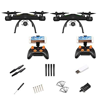 Purplert Drone Camera Live Video GPS Return Home,Quadcopter Ranger, Helicopter HD Wide Angle Camera Long Control Range Falling Resistance Aircraft