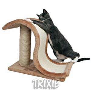 Cat Scratching Wave on Post Scratcher by Trixie