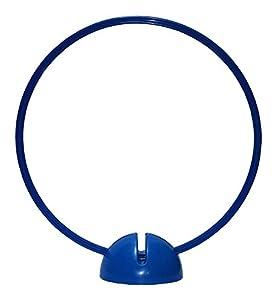 agility sport pour chiens - socle multi-fonctions remplissable avec cerceau Ø 70 cm, couleur: bleu - 1x xsB70b