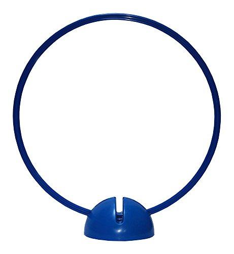 Agility Hundesport - X-Standfuß und Ring/Reifen Ø ca. 60 cm - Farbe: blau