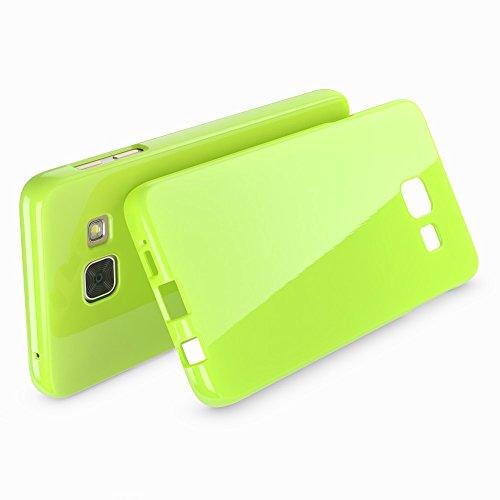 NALIA Handyhülle für Samsung Galaxy A5 2017, Ultra-Slim TPU Silikon Jelly Case Hülle, Dünne Gummi Schutzhülle Skin, Etui Handy-Tasche Back-Cover Bumper für Samsung A5 2017 Smartphone - Grün - 2