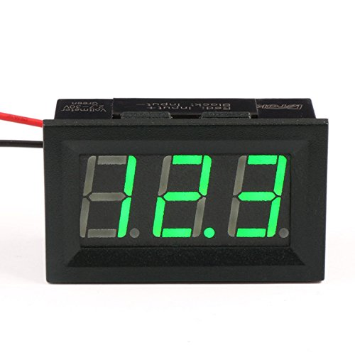 DROK® Voltmetro digitale 2.5V-30V DC voltage meter 2 fili 0.56 pollici 3 cifre Display a LED per i progetti solari / Battery Voltage Monitor
