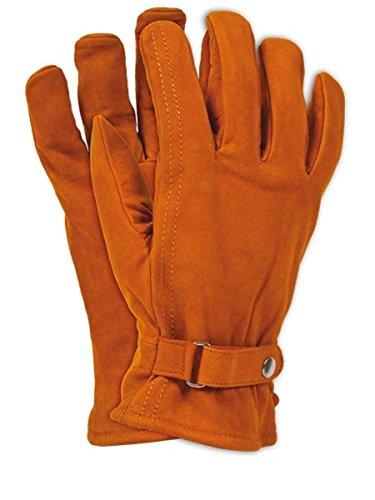 12 Paar Arbeitshandschuhe Handschuhe Montagehandschuhe Schutzhandschuhe aus Kalbsleder hoher Qualität Gr. 10 Leder Fahrer Handschuhe Braun