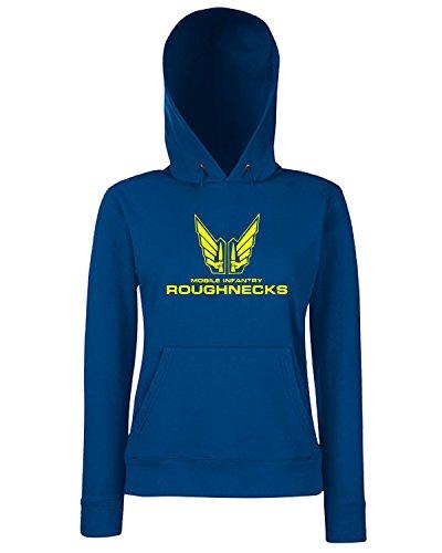 T-Shirtshock - Sweats a capuche Femme TF0025 Starship Troopers 2 Bleu Navy