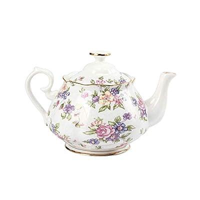 Floral Théière en porcelaine anglaise Pot 1500ml Théière pour thé café Euro Théière
