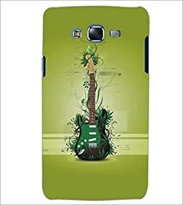 PrintDhaba Guitar D-5483 Back Case Cover for SAMSUNG GALAXY J7 (Multi-Coloured)