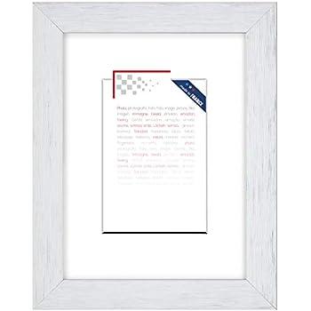 PF/&A A4 // 21x29,7 cm Oxford Cadre Photo Blanc Verre Mince Cadre Certificat Portrait et Paysage // Largeur du Cadre 2 cm