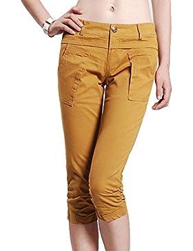 Oneforus Pantalone Pantalone corto corto da lavoro da uomo Slim Fashion Slim da donna (XL)