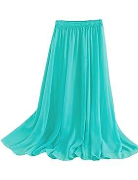 Falda maxi larga para mujer, estilo retro