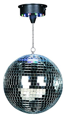 Ibiza 15-1221 Discolight Set mit 30 cm Spiegelkugel