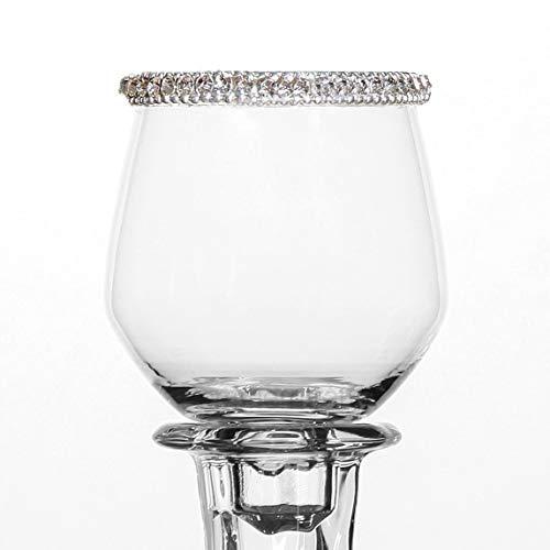 Pommerntraum | Teelichtaufsatz | Windlichtaufsatz | Glasaufsatz für Kerzenleuchter | KLAR MIT STRASSRAND No.2