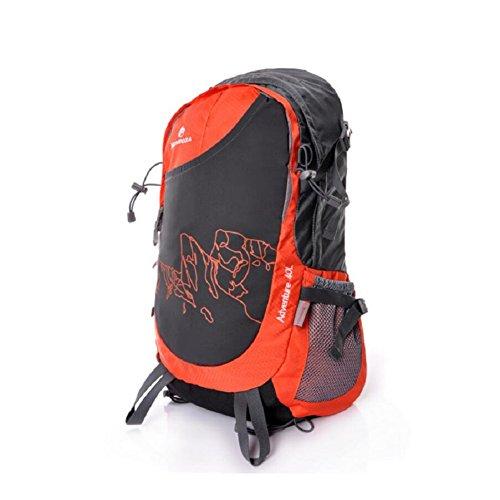 LF&F Backpack Mode Outdoor-Freizeit GroßE KapazitäT 40 Liter Rucksack Sport Schultern Rucksack Wasserdicht Nylon Laptop Mezzanine Paket Mehrzweck-Student Tasche Daypacks C