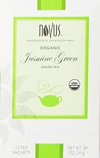 Novus Jasmine Green 100% Organic Tea, 12 Count Tea Bags
