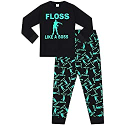 The Pyjama Factory Floss Like a Boss All Over Gaming Green Cotton Long Pyjamas (11-12 Years)