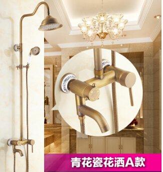 Ottone antico bagno soffione doccia con soffione
