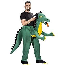 Disfraz de Dragón Verde para Adultos - Talla Única