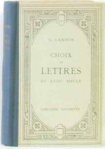 Choix de lettres du XVIIIe sicle
