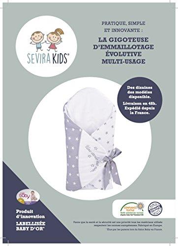Sevira Kids - Gigoteuse d'emmaillotage évolutive - nid d'ange - labellisé Innovation Baby d'Or - différent coloris