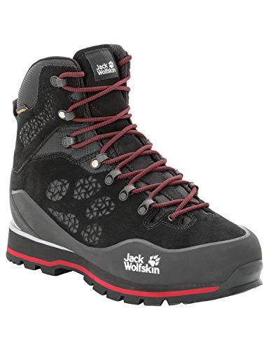 Jack Wolfskin Herren Wilderness Peak Texapore MID M Trekking- & Wanderstiefel, Schwarz (Black/Red 6047), 43 EU