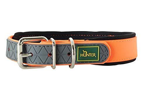 HUNTER Convenience Comfort Halsband für Hunde, Kunststoff, Neopren, wasserfest, schmutzabweisend, gepolstert, 50, neonorange -