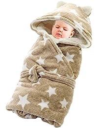 Sacco a pelo invernale del neonato appena nato Coperta dell involucro di  Swaddle Coperta infantile del bambino… 04b0aa4d6e8a