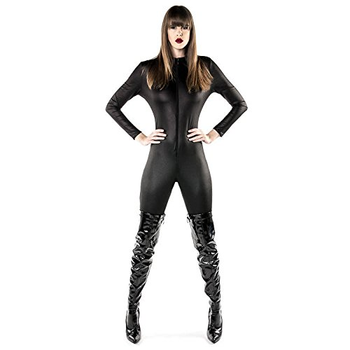Catwoman Sexy Outfit (Damen Sexy Black Catsuit Catwoman Superheld Kostüm)
