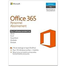 Office 365 Personnel - 1 PC/MAC + 1 tablette - Abonnement 1 an (Code Digital PC/Mac)