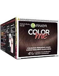 Garnier Color Me Coloration Cheveux Permanente Châtain Foncé Medium 4 1/2 - Lot de 3